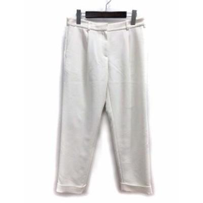 【中古】アイシービー iCB テーパード パンツ 9 M 白 ホワイト 無地 シンプル レディース