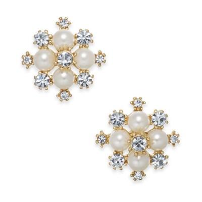 チャータークラブ Charter Club レディース イヤリング・ピアス Extra Small Gold-Tone Crystal & Imitation Pearl Snowflake Stud Earrings Gold