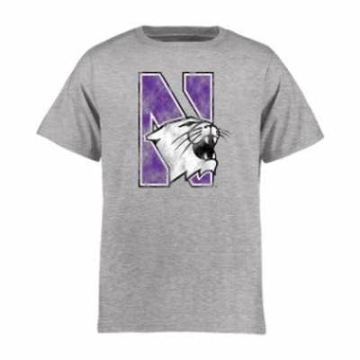 Fanatics Branded ファナティクス ブランド スポーツ用品  Northwestern Wildcats Youth Ash Classic Primary T-Shirt