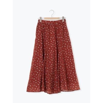 花柄フレアギャザースカート