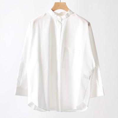 ジーンズファクトリークローズ Jeans Factory Clothes 後ろティアードノーカラーシャツ 769107