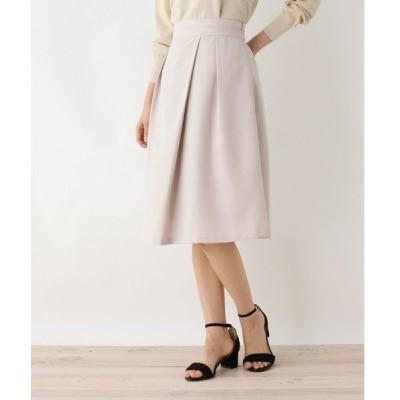 スカート 【洗える・42(LL)WEB限定サイズ】ECOLUブッチャー巻き風フレアスカート