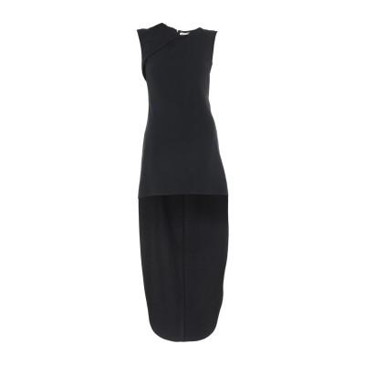 SAINT LAURENT ミニワンピース&ドレス ブラック 36 アセテート 57% / レーヨン 43% ミニワンピース&ドレス
