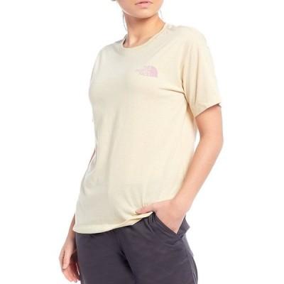 ノースフェイス レディース Tシャツ トップス Short Sleeve Tri-Blend Cotton Blend Jersey Tee Vintage White