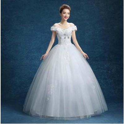 人気 手作り 花嫁 パーティードレス プリンセスライン ウエディングドレス 結婚式 ブライダル 素敵 ワンピース 大きいサイズ 冠婚 ロング丈ワンピース 綺麗
