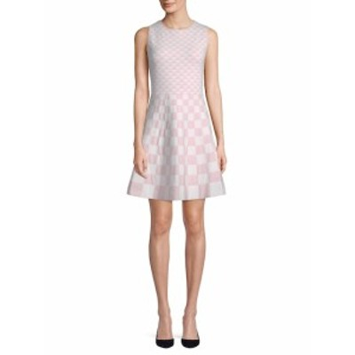 サックスフィフスアベニュー レディース ワンピース Geometric Sleeveless Dress