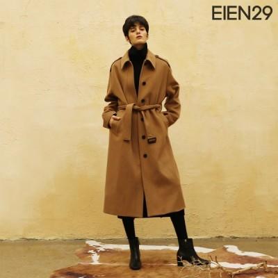日本未発売 EIEN29 ロング コート ウール カシミア インナーベスト付き ドロップショルダー キャメル 海外 ブランド インポート 母の日