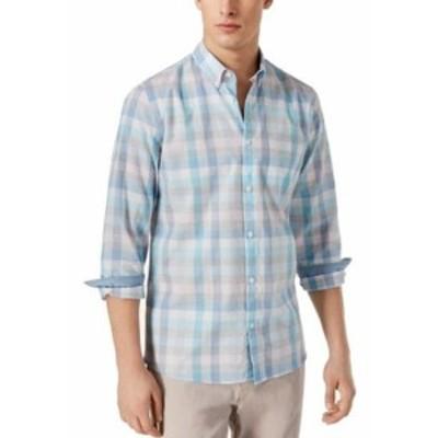 Calvin Klein カルバンクライン ファッション アウター Calvin Klein NEW Black Mens Size XL Block Plaid Print Button Up Shirt
