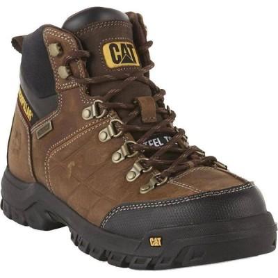 キャットフットウェア CAT メンズ ブーツ ワークブーツ シューズ・靴 ERPILLAR 6 in. Threshold Waterproof Work Boots REAL BROWN