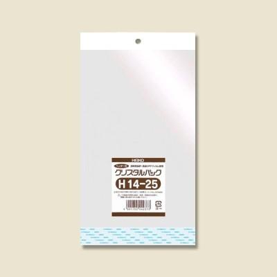OPP袋 クリスタルパック H14-25(ヘッダー付き) HEIKO 100枚