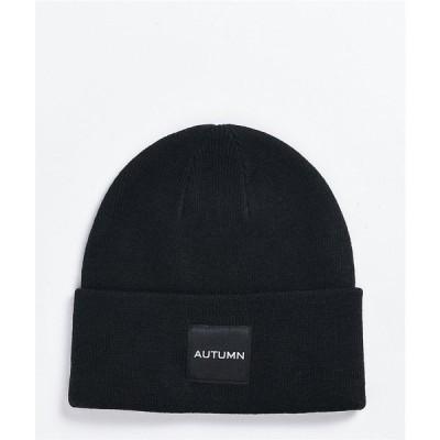 オータム AUTUMN レディース ニット ビーニー 帽子 Autumn Surplus Black Beanie Black