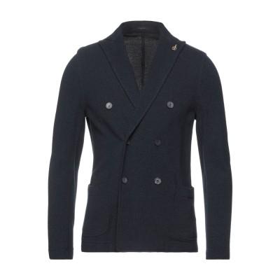 パオローニ PAOLONI テーラードジャケット ダークブルー 48 コットン 100% テーラードジャケット