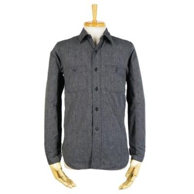 シャンブレーシャツ - 撚り杢 ブラックシャンブレー (ワンウォッシュ)