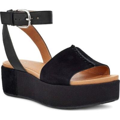 アグ UGG レディース サンダル・ミュール ウェッジソール シューズ・靴 Chapala Platform Wedge Sandal Black Leather