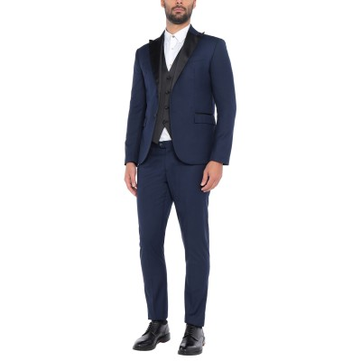 TANZARELLI スーツ ダークブルー 54 スーパー120 ウール 100% スーツ