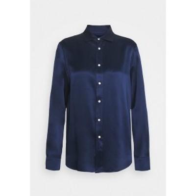 ラルフローレン レディース シャツ トップス Button-down blouse - dark cobalt dark cobalt