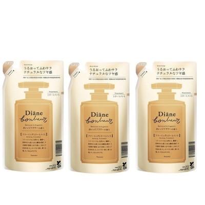3個セットダイアン ボヌール オレンジフラワーの香り モイストリラックス トリートメント 詰め替え 400ml ×3セット Diane Bonheur  つや 詰替えセット