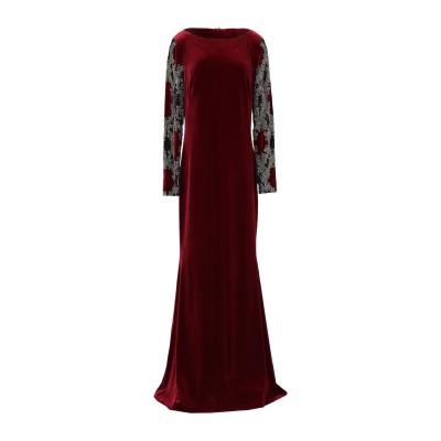 BADGLEY MISCHKA ロングワンピース&ドレス ボルドー 8 ポリエステル 92% / ポリウレタン 8% ロングワンピース&ドレス