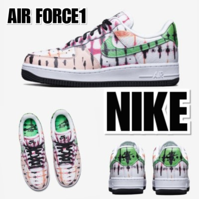 "NIKE ナイキ Nike Air Force 1 WMNS ""Black Tie Dye"" CW1267-101 スニーカー レディース"