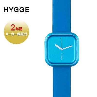HYGGE ヒュッゲ 腕時計 ブランド おしゃれ レディース メンズ 時計 北欧 日本製 正方形 アナログ 防水 レザー 革 プレゼント 誕生日 水色