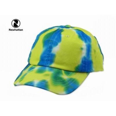 ☆NEWHATTAN【ニューハッタン】COTTON TIEDYE CAP F : SAX/YELLOW/GREEN コットン タイダイ キャップ サックス/イエロー/グリーン 14447