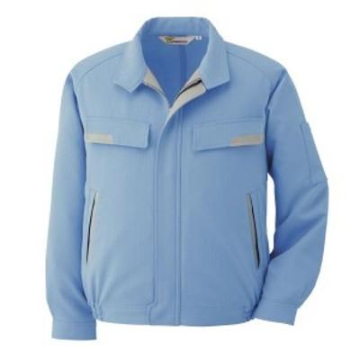 ミドリ安全 ベルデクセルESD IEC対応高機能 男女共用 長袖ブルゾン VES273上 ブルー 吸水・防汚加工 作業着 作業服 男性用 女性用