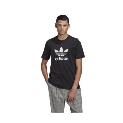 (取寄)アディダス オリジナルス メンズ トレフォイル Tシャツ adidas originals Men's Trefoil T-Shirt Black White 送料無料