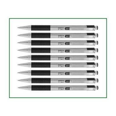 Zebra???f-301?Ballpoint格納式ペン,ブラックインク, Fine Point Tip Pack of 9 Pens