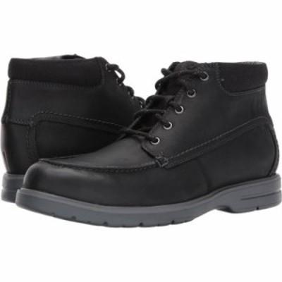 クラークス ブーツ Vossen Mid Black Leather