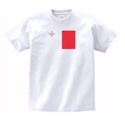 マルタ 国 国旗 Tシャツ