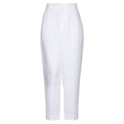 EUROPEAN CULTURE パンツ ホワイト 28 麻 63% / テンセル 25% / コットン 9% / ポリウレタン 2% / ポリウレ