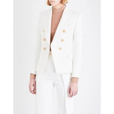 バルマン BALMAIN レディース スーツ・ジャケット アウター Double-breasted wool blazer BLANCE