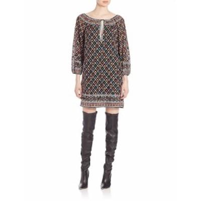 アリス+オリビア レディース ワンピース Gillian Embroidered Shift Dress