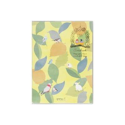 ミドリ 2021年 10月始まり ポケットダイアリー (A6) トリ柄 / 月曜始まり 可愛い 鳥 手帳 日記 MIDORI (在庫限り)