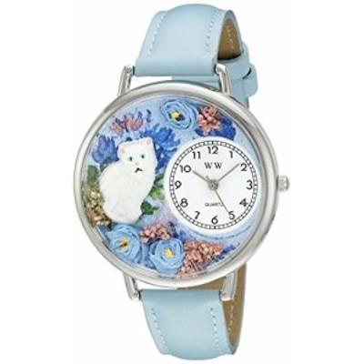腕時計 気まぐれなかわいい プレゼント Whimsical Watches Unisex U0120014 White Cat Baby Blue Le