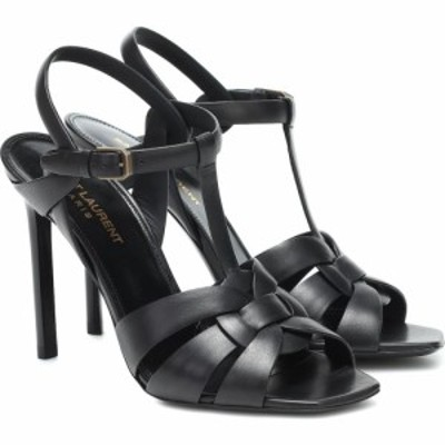 イヴ サンローラン Saint Laurent レディース サンダル・ミュール シューズ・靴 Tribute 105 leather sandals Noir