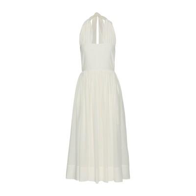 ロシャス ROCHAS 7分丈ワンピース・ドレス ホワイト 38 100% シルク 7分丈ワンピース・ドレス