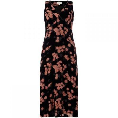 マイケル コース MICHAEL Michael Kors レディース ワンピース スリップドレス ワンピース・ドレス High waisted textured slip dress Black