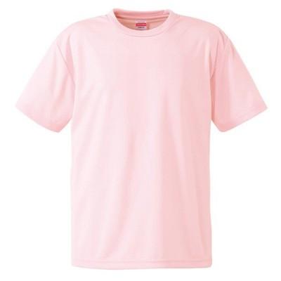 Tシャツ メンズ レディース 半袖 無地 桃色 ピンク s m l xl 2l xxl 3l xxxl 4l xxxxl 5l 大きいサイズ 丈夫 シャツ ユニセックス ポリエステル 吸水速乾 吸汗