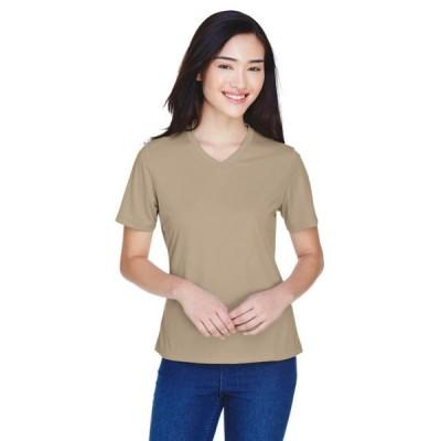 ユニセックス 衣類 トップス Team 365 The Ladies' Zone Performance T-Shirt - DESERT KHAKI - XS ブラウス&シャツ