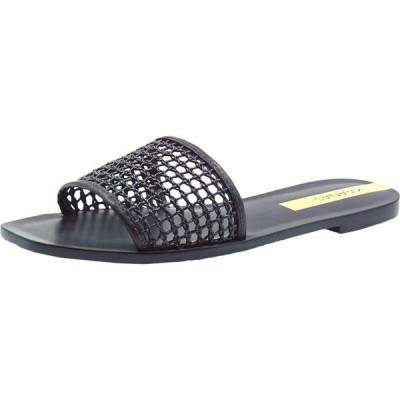カーナス KAANAS レディース サンダル・ミュール シューズ・靴 Pipa Braided Net Slide Black