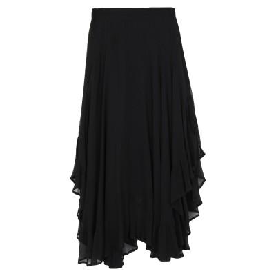 ツインセット シモーナ バルビエリ TWINSET ひざ丈スカート ブラック 42 レーヨン 100% ひざ丈スカート