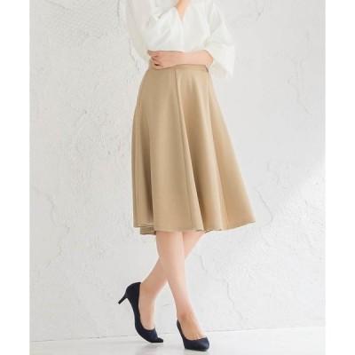 スカート ふんわり360°美人ミモレ丈フレアスカート