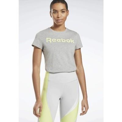 リーボック Tシャツ レディース トップス ESSENTIALS TRAINING SHORT SLEEVE GRAPHIC - Print T-shirt - grey