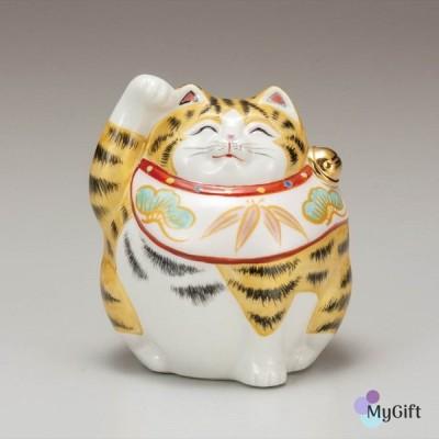 九谷焼 4号福々招き猫 金彩 K6-1498 置物 おすすめ おしゃれ かわいい 可愛い 人気 プレゼント 贈り物 内祝い お祝い