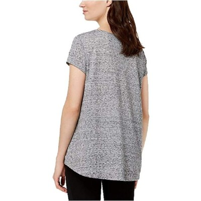 Style&Co High-Low Graphic T-Shirt (Lotus, L)