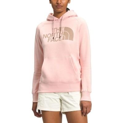 ノースフェイス カットソー トップス レディース Women's Half Dome Logo Hoodie Evening Sand Pink