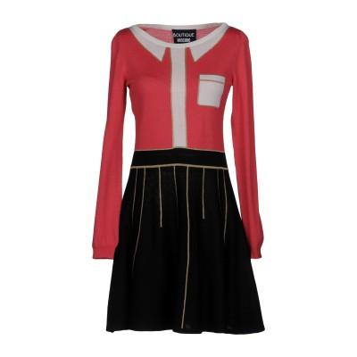 BOUTIQUE MOSCHINO ミニワンピース&ドレス フューシャ 44 バージンウール 100% / アセテート / ポリエステル / ナイロ