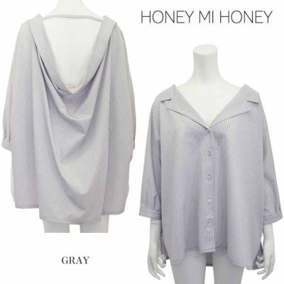 SALE60%OFF Honey mi Honey ハニーミーハニー stripe blouse ストライプブラウス 17s-ab-05