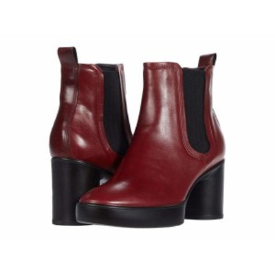 エコー レディース ブーツ・レインブーツ シューズ Shape Sculpted Motion 55 Chelsea Boot Syrah